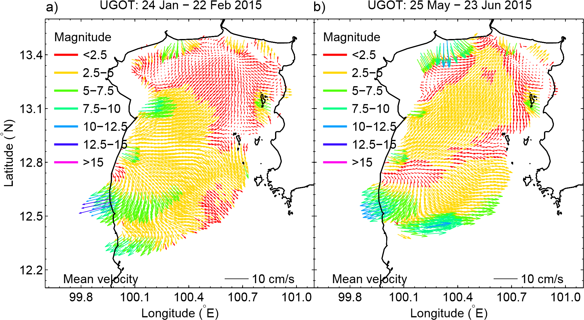 Seasonal Monsoon Variations in Surface Currents in the Gulf